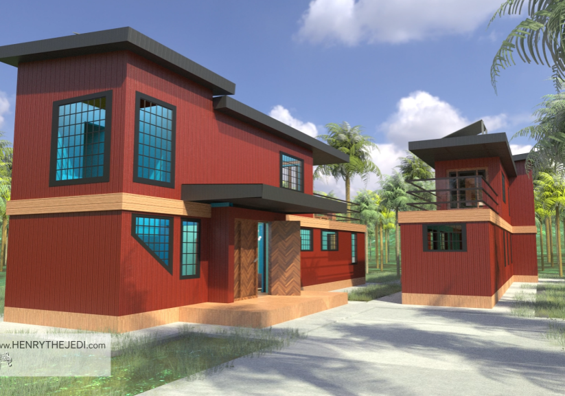 Trinidad AND Tobaggo Container House Building Construction Animation (78)