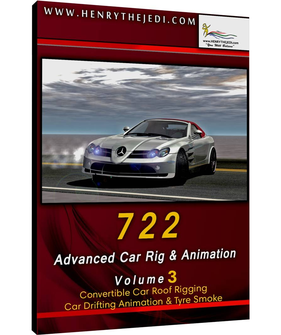 Product – Mercedes Mclaren Slr 722 Roadster V3 Convertible Car Roof Rigging, Car Drifting Animation & Tyre Smoke - 00 Textures